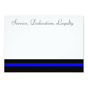 Thin blue line invite