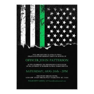 Thin Green Line American Flag Party|Event Invite