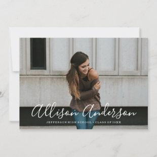 Timeless Script | Photo Graduation Announcement