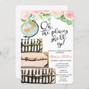 Travel Themed Graduation Party Invitation