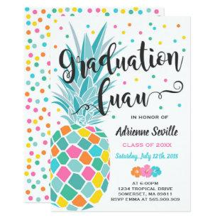 Tropical Graduation Invitation Luau Grad Party