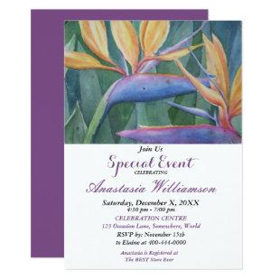 TROPICAL PARADISE PARTY EVENT INVITE