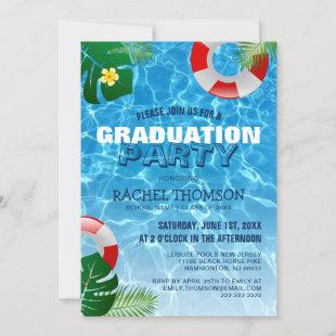 Tropical Pool Party | Summer Graduation Party Invitation
