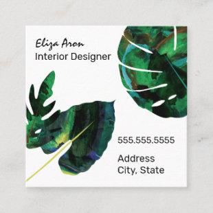 Tropical Square Business Card