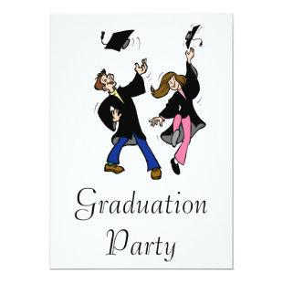 Twin Boy & Girl Graduates Invitation