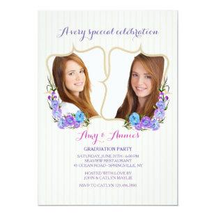 Twin Frame Photo Graduation Invitation