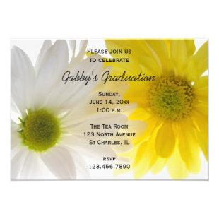 Two Daisies Graduation Party Invitation