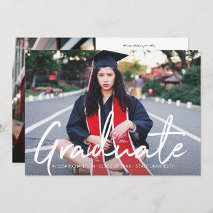 Two Photo & White Typography Graduate Announcement