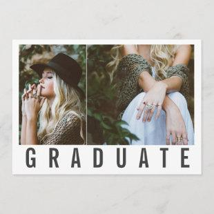 TYPE- GRADUATE CARD(CLIPPED PHOTOS) ANNOUNCEMENT