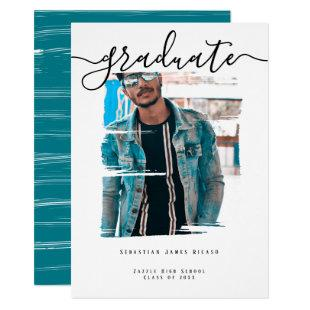 Typography Photo Personalized Graduation Invitation