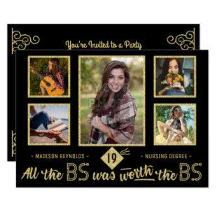 University Graduation Photo Bachelors Degree Party Invitation