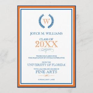 University of Florida Graduation Announcement