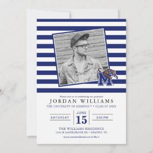 University of Memphis Striped Graduation Announcement