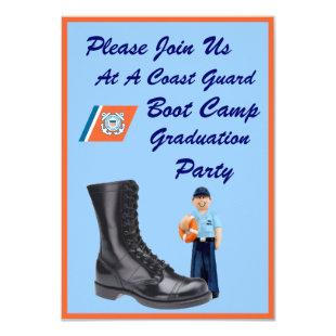 USCG Boot Camp Graduation Party Invitation