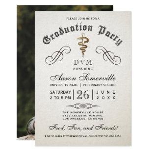 Veterinary School Graduation Invitations