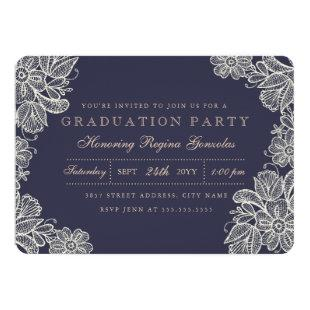 Vintage Lace Graduation Invitation