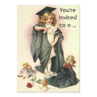 Vintage School Graduation Invitation