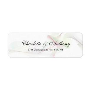 Wedding Elegant Script Creative Abstract Curves Label