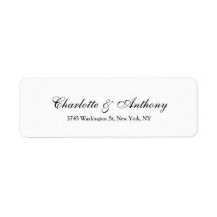 Wedding Elegant Script Creative Black White Label