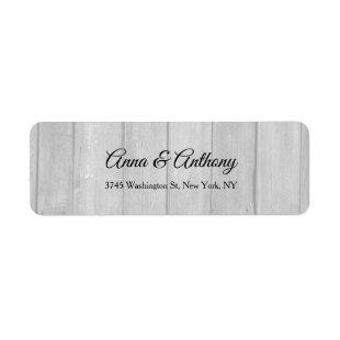 Wedding Grey Professional Creative Elegant Plain Label