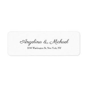 Wedding Professional Creative Script Handwriting Label