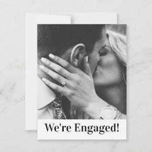 We're Engaged Announcement Personalize