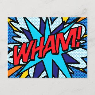 WHAM Your Message Speech Bubble Fun Retro Announcement Postcard