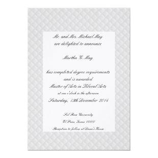 White Quilted Leather Bordered Graduation Cards
