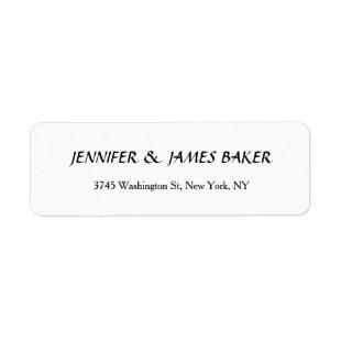 White Unique Creative Clean Stylish Family Name Label