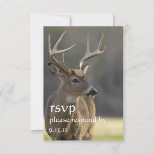Whitetail Buck 8 Hunter Wedding Or Graduation RSVP