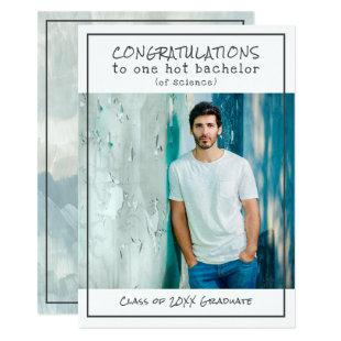 Witty Bachelor of Science Photo Graduation Party Invitation