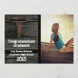 Wood and Hinge 2015 Photo Graduation Announcement