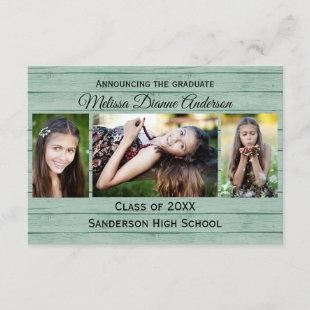 Wood Boards Background-3x5 Graduation Announcement