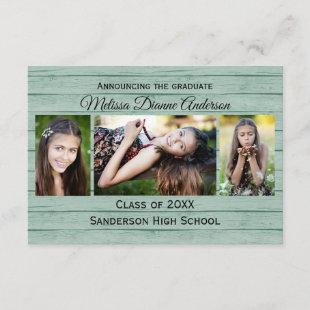 Wood Boards Background - 3x5  Graduation Party Invitation
