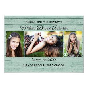 Wood Boards Background - Graduation Party Invitation