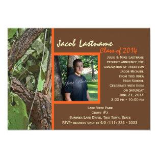 Woodland Tree Graduation Photo Invitation