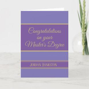 Wow! Master's degree Graduation card