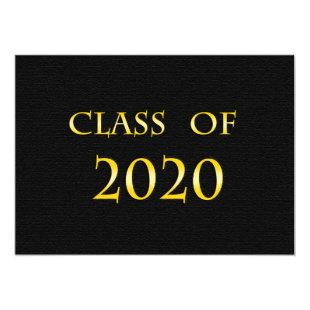 Yellow and Black Class of 2020 Card