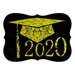 Yellow and Black Floral Cap 2020 Card