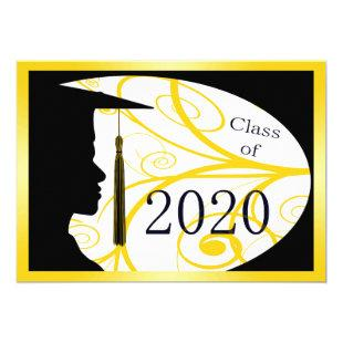Yellow and Black Man Silhouette 2020 Card