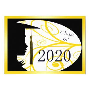Yellow and Black Silhouette 2020 Card