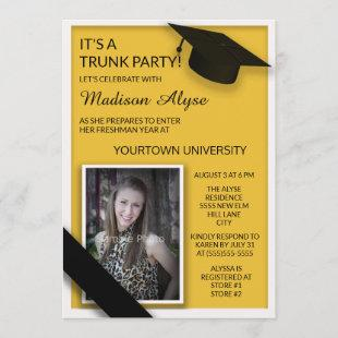 Yellow Black College Trunk Party Dorm Shower Photo